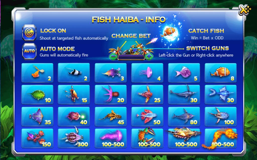 เกมยิงปลา Fish hunter haiba